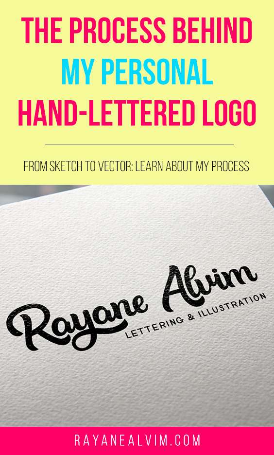 In this post I will guide you through my process for creating my personal hand-lettered logo: from sketch to vector.