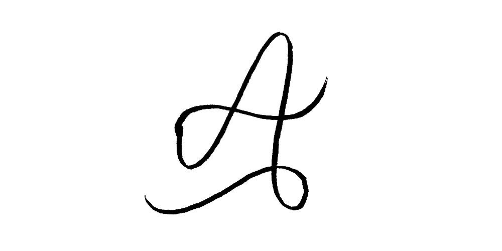 The Letter 'A' I drew originally