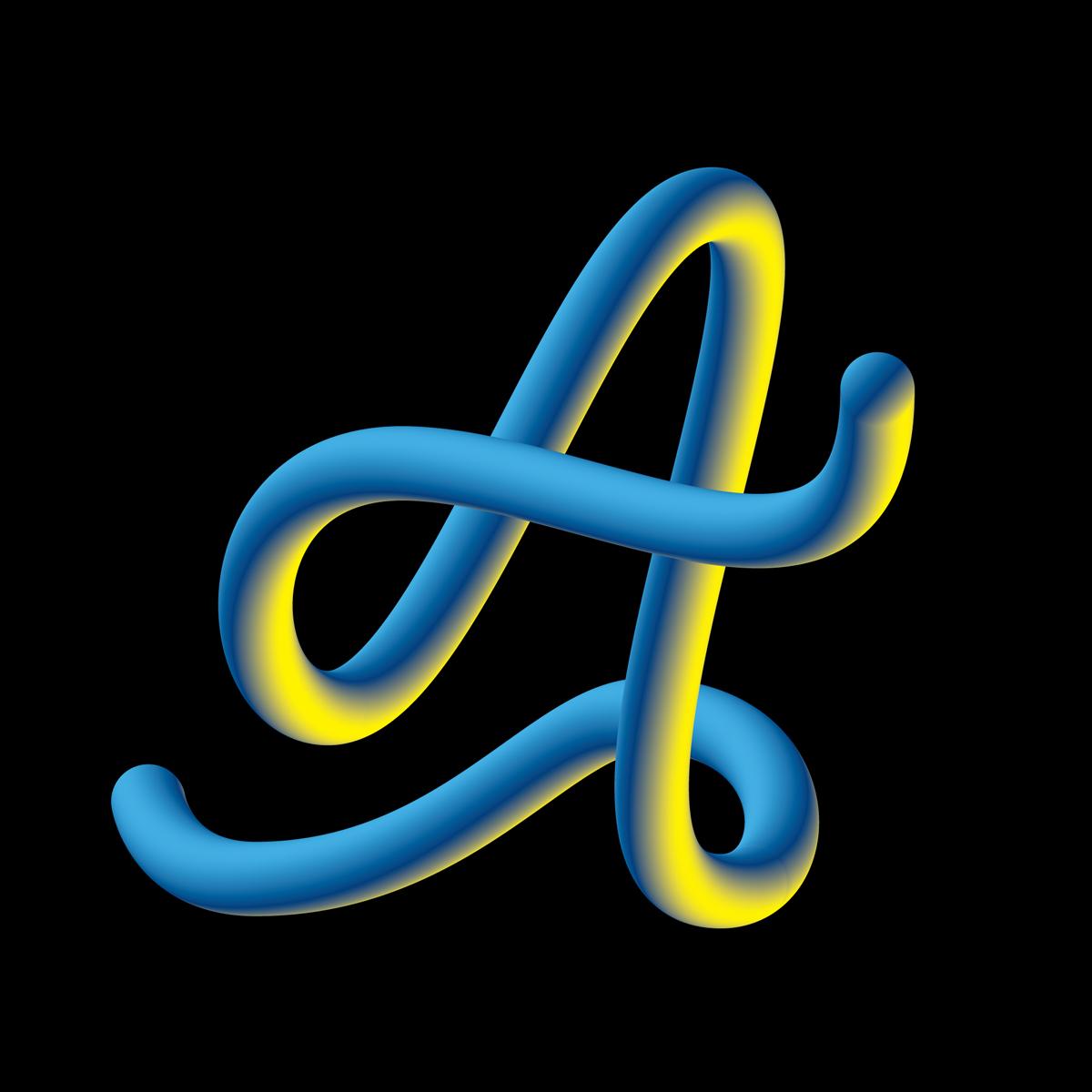 Hand Lettering Alphabet - Letter A