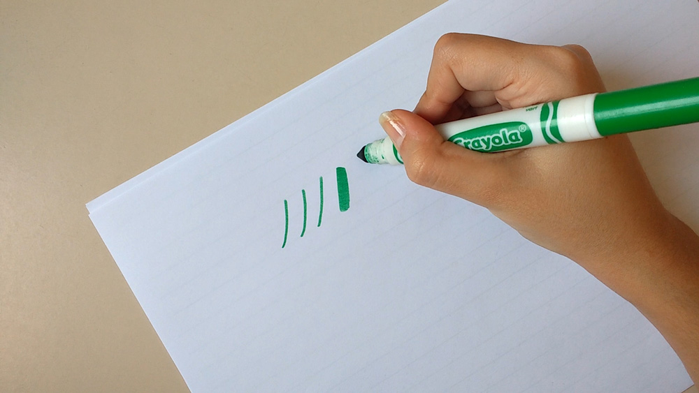 Calligraphy With Crayola Markers - Hold Your Pen At An Angle