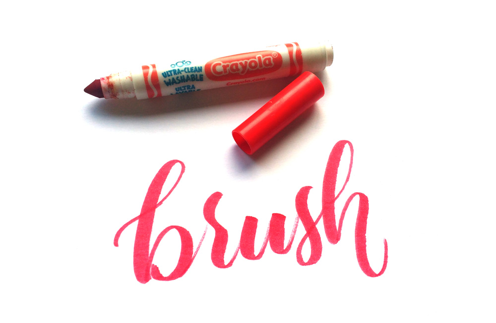 """Practicing Calligraphy - """"Brush"""" is one of the practice words I personally use"""