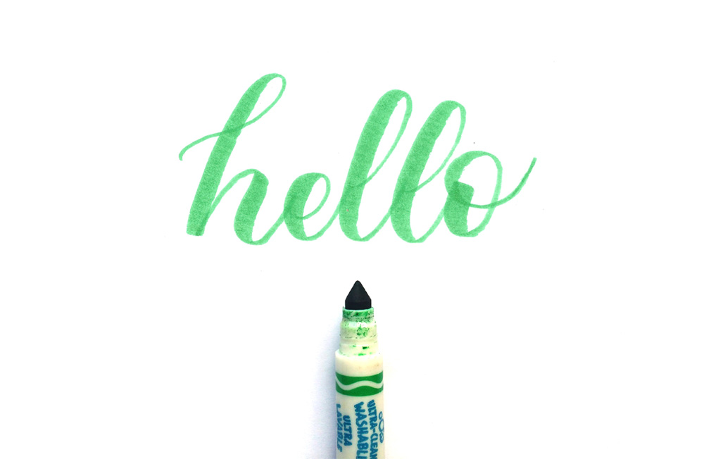 """Practicing Calligraphy - """"Hello"""" is one of the practice words I personally use"""