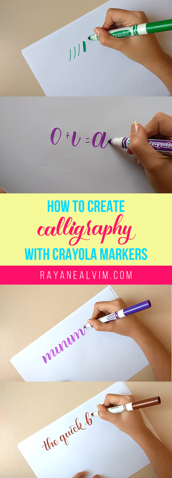 Learn How To Create Calligraphy With Crayola Markers